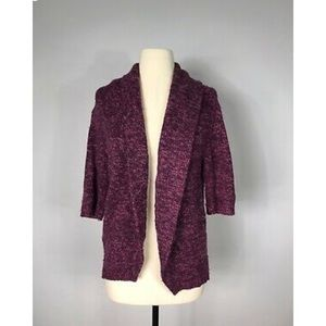 Sundance Purple Merino Wool Chunky Knit Sweater-M